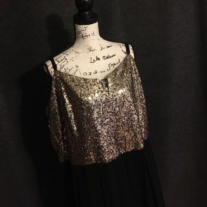 Full Length Sequins Gown
